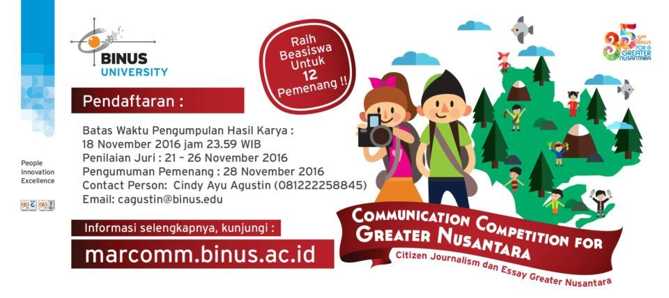 Communication Competition for Greater Nusantara 2016 - Marcomm Binus