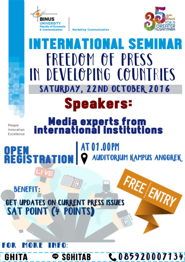 "Seminar International: ""freedom of press in developing countries"""