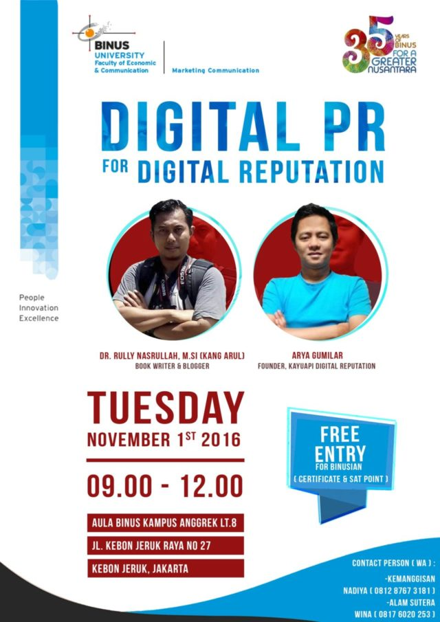 Seminar Digital PR for Digital Reputation