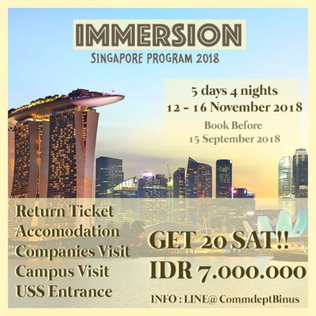 2018 Immersion from Communication Department